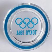 VTG Tokyo Olympics Memorial Glass ashtray / blue