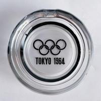 VTG Tokyo Olympics Memorial Glass ashtray / black
