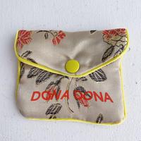 DONADONA printed oriental jqd pouch / Beige