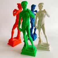 Italian colored David statues