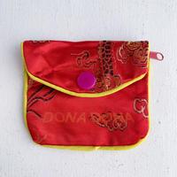 DONADONA printed oriental jqd pouch / Dragon led