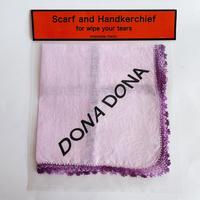 DONADONA Logo printed handkerchief