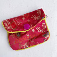 DONADONA printed oriental jqd pouch / Rose