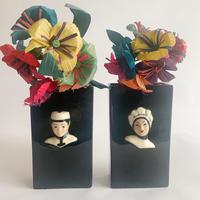 Original couple hanging flower vase