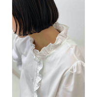 diploa | FRILL NECK BLOUSE | White