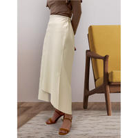 diploa | ASYMMETRY FAUX LEATHER SKIRT | Ivory
