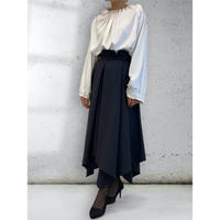 diploa | ASYMMETRY WRAP SKIRT | Black
