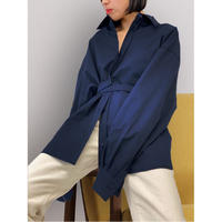 diploa   TIE BELTED OVERSIZED SHIRT   Navy