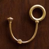 真鍮 鋳肌キーホルダー流星(丸)【二上】