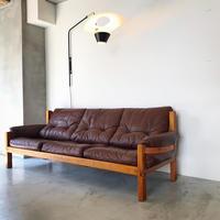 [※PRICE/ASK]S32 Sofa (Solid Oak) / Pierre Chapo / ca.1960