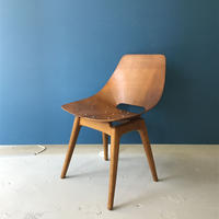Amsterdam (Tonneau) Chair-Wood Leg / Pierre Guariche