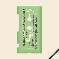 カバー型ケース[クラリネット]Xperia XZ3(SO-01L/SOV39)