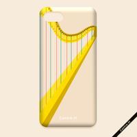 カバー型iPhoneケース[ハープ]11pro / X / XS / 8 / 7 / 6 / 6s / SE(第2世代)