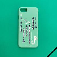 カバー型iPhoneケース[クラリネット]11 / 11pro max / XR / XS max / 8plus / 7plus/ 6plus
