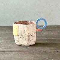 片瀬和宏 貼りマグカップ 黄色