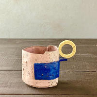 片瀬和宏 貼りマグカップ 青