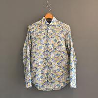 <men> Harriss(ハリス)花柄ワイドスプレッドカラー長袖シャツ (HS201-06008)/ ブルー