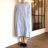 <women>MANON(マノン) ストライプ シャツワンピース(MNN-OP-034)/ブルー)