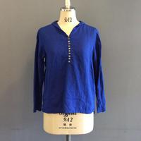 <women>Atelier SECESSiON(アトリエセセッシオン) ベルギーリネン・セーラーカラープルオーバーシャツ / ブルー