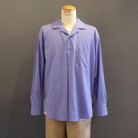 <men> MANUAL ALPHABET(マニュアルアルファベット)オープンカラー・プルオーバーシャツ (MA-S-507)/ ブルー