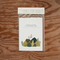 メラニーさんのカード 茎と花