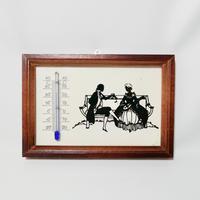 切り絵の温度計