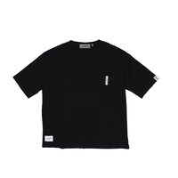 BIG SILHOUETTE POCKET T-SHIRT  / BLACK <L-2003>