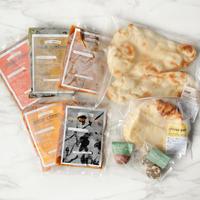 【全部お試しセット】カレー5種&ナン1袋&チーズナン1袋&インド菓子2種(送料込み)