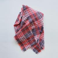 ガーゼ/起毛タータンチェックストール
