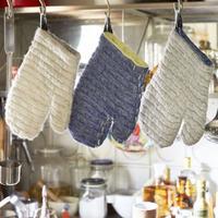 キルト織りのミトン
