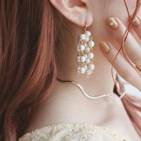 [ gold ]pearl shower pierce/earring