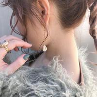 chain flower  pierce/earring