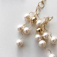 [ gold ]une pearl ball pierce/earring