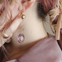 [ purple / gold ]  glitter une pierce/earring