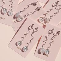 pale blue une pierce/earring