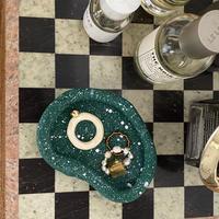 clay ring tray  green
