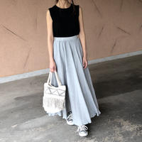 再入荷!柔らかガーゼ素材!ふんわりロングスカート (2color)【クリックポスト対象商品】