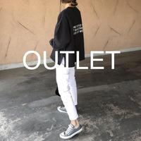 【OUTLET】大人気シリーズ!サイドジッパーデザイン!バックプリントトレーナー(チャコールブラック)【クリックポスト対象商品】