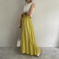ギャザーロングカラースカート (2color)