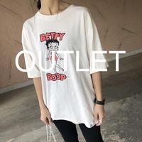 【訳ありOUTLET】ゆったりサイズ!BETTY BOOPネオンビッグTシャツ【クリックポスト対象商品】