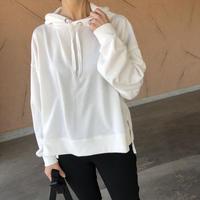 ボックスシルエット!裾スリットパーカー(3color)【クリックポスト対象商品】