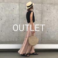 【OUTLET】シフォンワッシャープリーツロングスカート【クリックポスト対象商品】