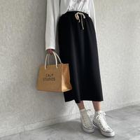 裾切りっぱなしスウェットスカート(2color)