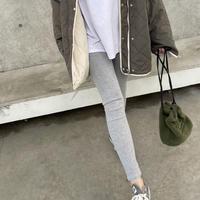 裾スリットリブレギンス(2color)