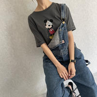 目隠しミッキーTシャツ(2color)