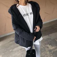 1月7日再々入荷!軽量で暖かくマットな質感!フード中綿ショート丈コート