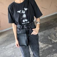 再々入荷!レトロモノクロミッキーTシャツ(2color)【クリックポスト対象商品】