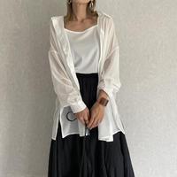 シアービッグシャツキャミSET(2color)