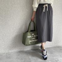 期間限定!早割10%OFF【2021ss】裾切りっぱなしスウェットスカート(2color)【クリックポスト対象商品】