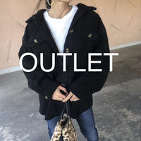 【OUTLET】ビッグシルエット!裏地付きボアビッグシャツブルゾン